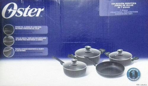 juego de ollas de 7 piezas oster. original y nueva