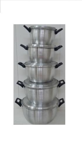 juego de ollas de aluminio