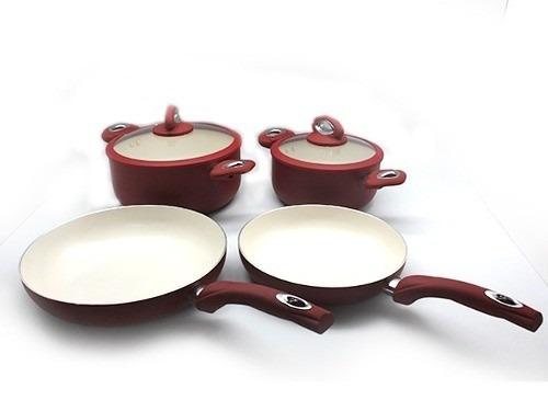 juego de ollas eclipse 6 piezas gas induccion ceramica plus