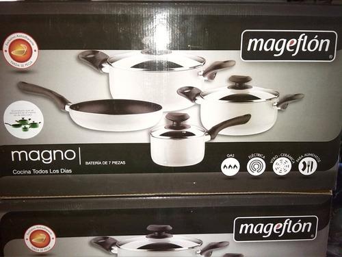 juego de ollas magefesa magno 7 piezas 2.3 mm de espesor