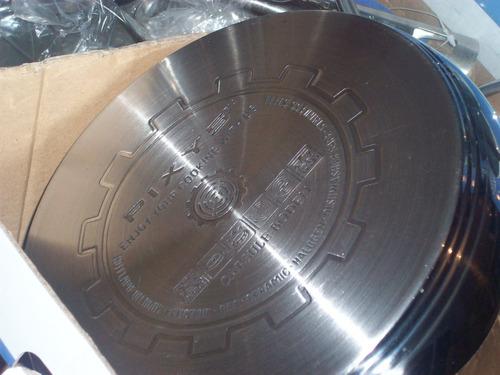 juego de ollas pixys 8 piezas teflon interior, 200vrds