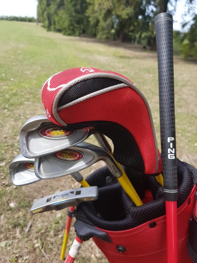 7beadb7ea4a35 juego de palos de golf ping de 6 a 8 años usados con caja.. Cargando zoom.