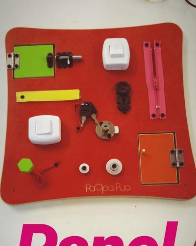 juego de pared panel tipo montessori  didactico 40x40cm  pp