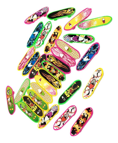 juego de patinetas de plástico en miniatura para