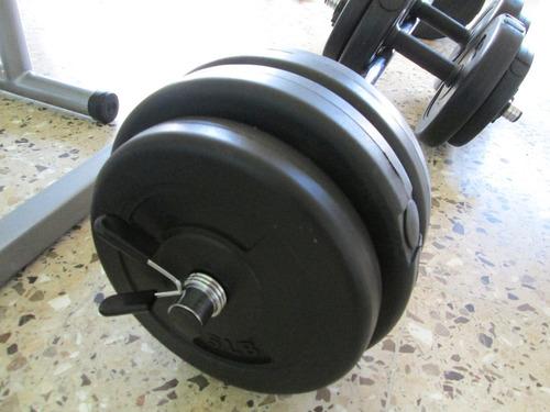 juego de pesas y mancuernas de 100 libras