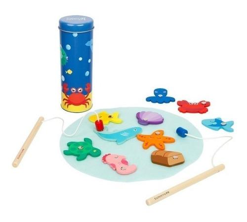 juego de pesca para niños! madera con imán. sunnylife!