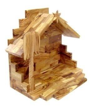 juego de pesebre en miniatura madera olivo original u s a