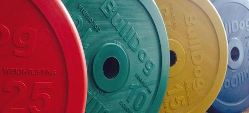 juego de peso levantamiento  olimpico bulldog