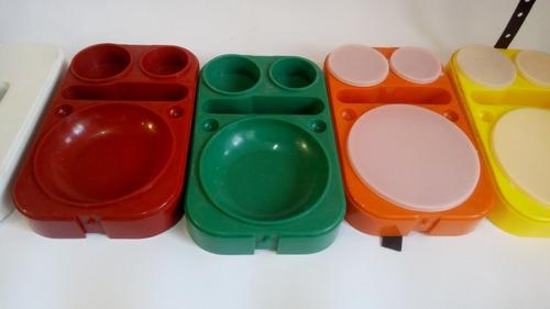 juego de picnic vintage mediano siglo moderno plástico 60s