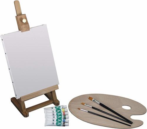 juego de pintura acrlica mini caballete