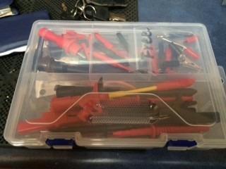 juego de pinzas electrónicas para tester