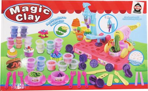 juego de plastilina magic clay