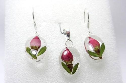 juego de plata con flores naturales - virgen de guadalupe