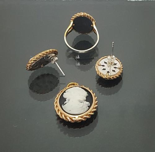 juego de plata turca estilo camafeo