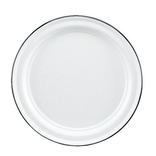 juego de plato base de peltre, 6 piezas blanco