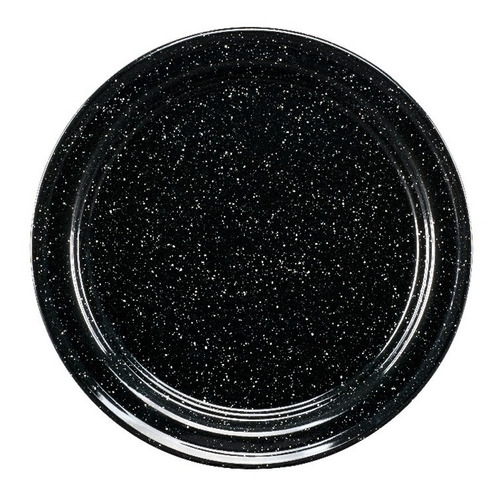 juego de plato base de peltre, 6 piezas negro