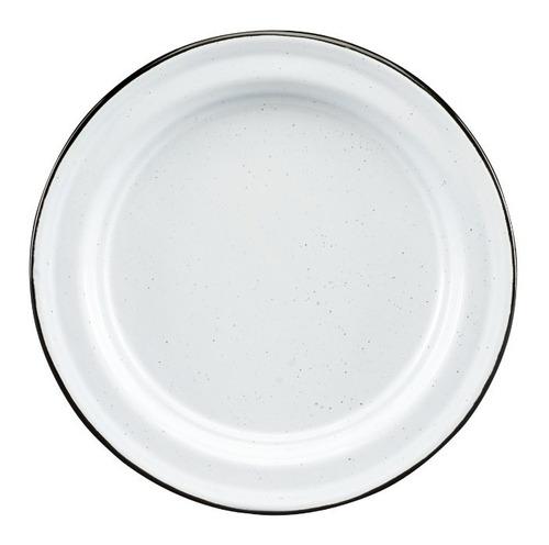 juego de plato ensalada de peltre, 6 piezas blanco