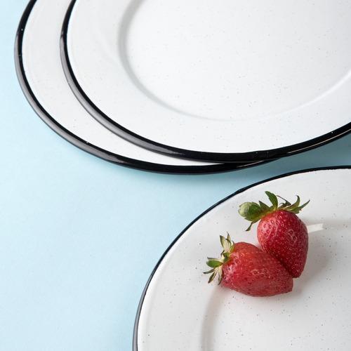 juego de plato ensalada de peltre con ala 6 piezas blanco