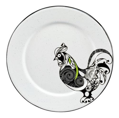 juego de plato ensalada de peltre decorado con ala, 6 piezas