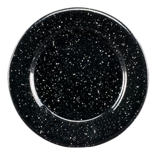 juego de plato postre de peltre con ala 6 piezas negro