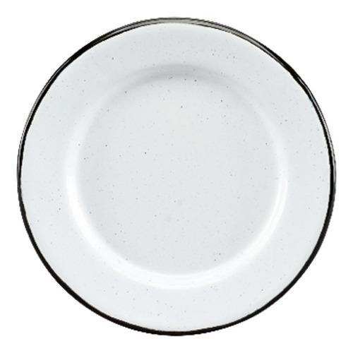 juego de plato postre de peltre con ala 6 pzas blanco cinsa