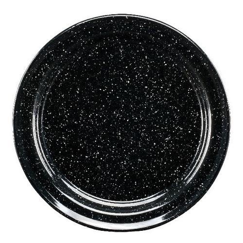 juego de plato principal de peltre, 6 piezas negro