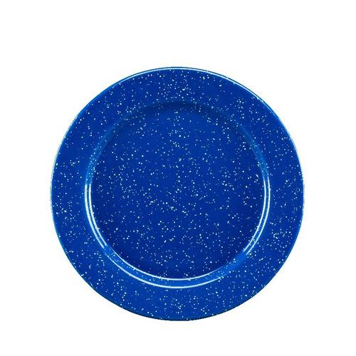 juego de plato principal de peltre con ala, 6 piezas azul
