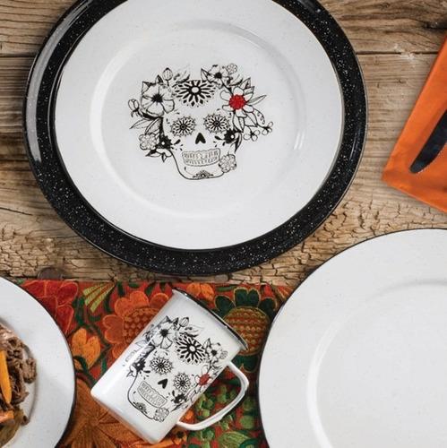 juego de plato principal de peltre decorado con ala,6 piezas