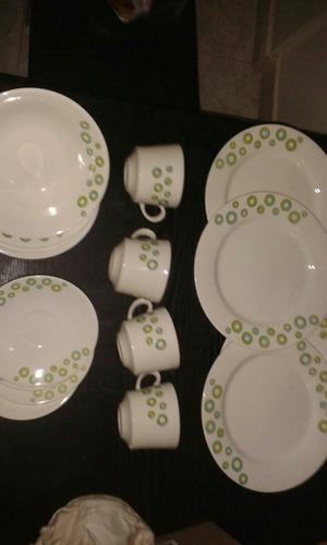 juego de platos corona 16 piezas
