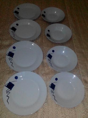 juego de platos de 8 piezas