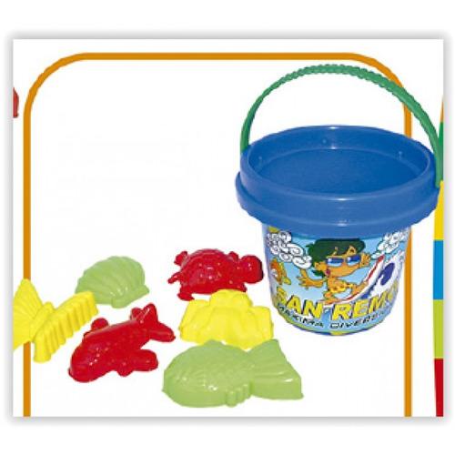 juego de playa balde y moldes