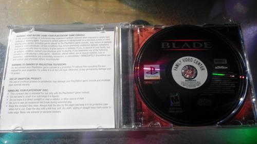 juego de playstation 1 original,blade.