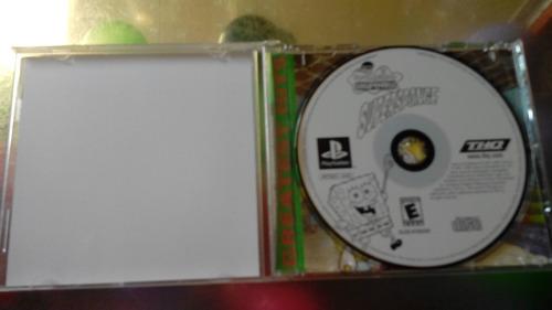 juego de playstation 1 original,bob esponja.