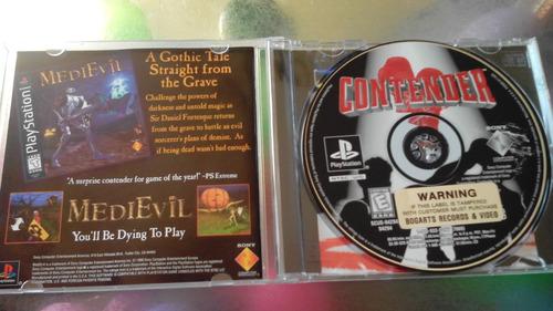 juego de playstation 1 original,contender.