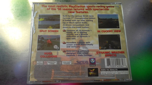 juego de playstation 1 original,formula 1 championship editi
