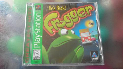 juego de playstation 1 original,frogger.