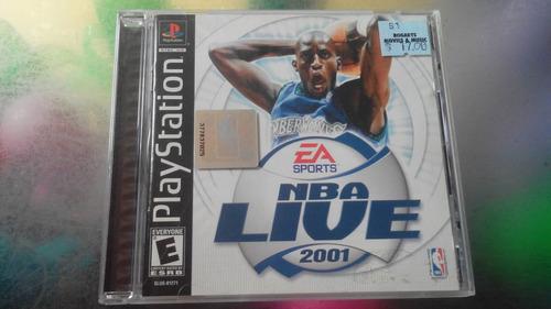 juego de playstation 1 original,nba live 2001.
