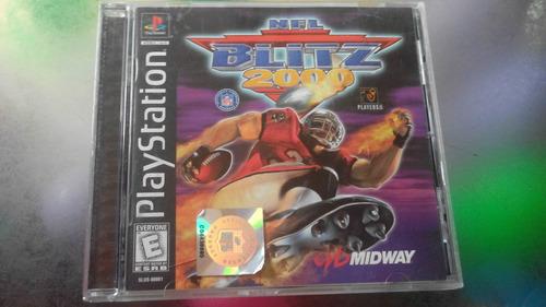 juego de playstation 1 original,nfl blitz 2000.
