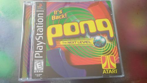 juego de playstation 1 original,pong.