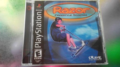 juego de playstation 1 original,razor freestyle scooter.