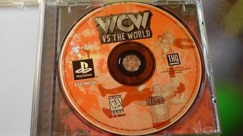 juego de playstation 1 original,wcw vs the world.