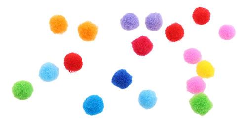 juego de pompón de lana fieltro bolas surtido coloridos
