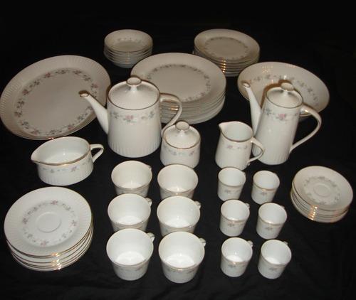 juego de porcelana tsuji para 6 personas excelente estado