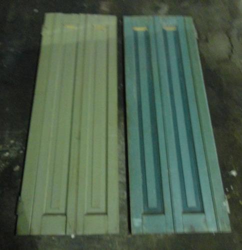 juego de postigones de cedro de 1,40 m
