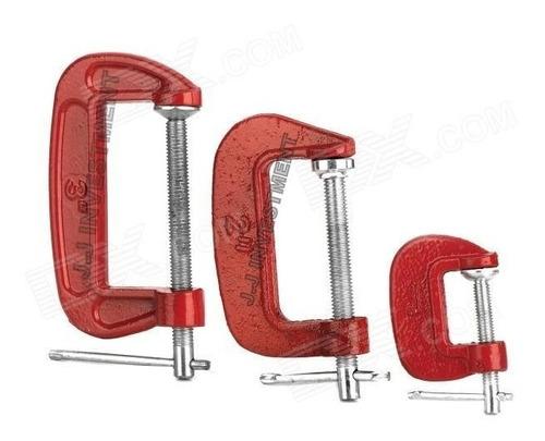 juego de prensas de tornillo o sargentos set de 3 piezas