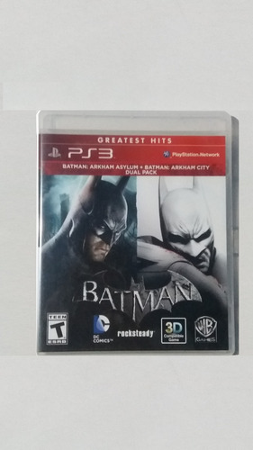 juego de ps3 batman: arkham asylum + arkham city (dual pack)