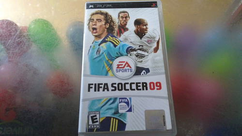 juego de psp, fifa soccer 09.