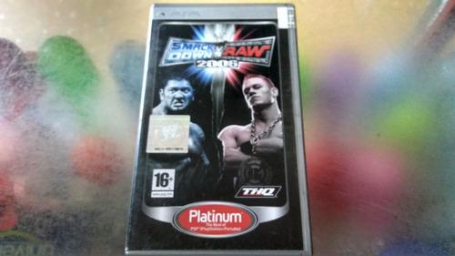 juego de psp, smackdown va raw 2006.
