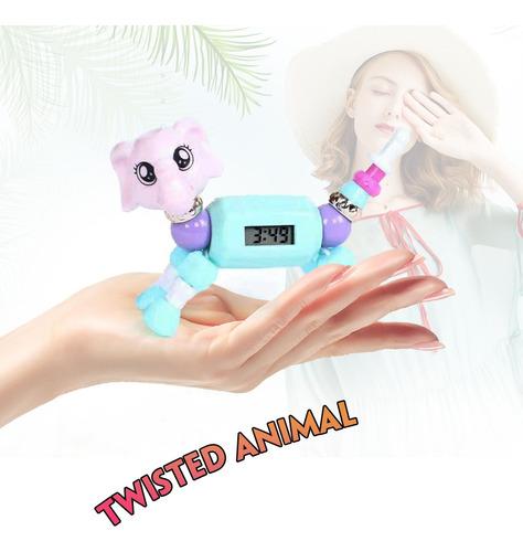 juego de pulseras coleccionables de animales trenzados con e