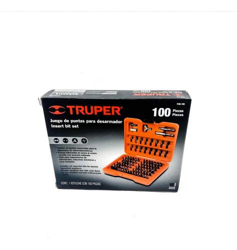 juego de puntas para destornillador 100 piezas truper